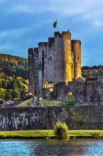 Towers Of Caerphilly Castle Gatehouse by Ian Lewis