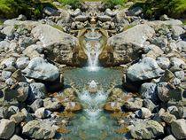 Wasserfall im Spiegelbild von kattobello