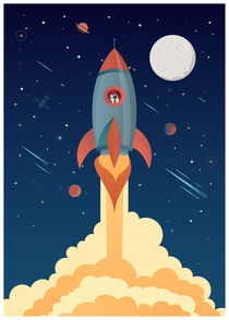 Space rocket by Print Point