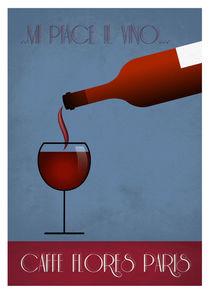 Glass of red von Print Point