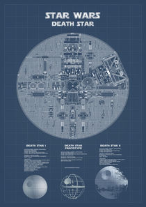 Death Star Blueprints by Print Point