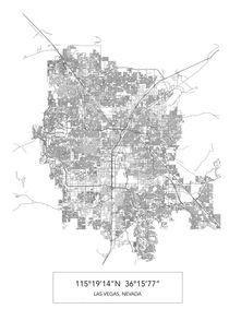 Las Vegas Map von Print Point
