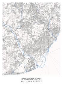 Barcelona map von Print Point