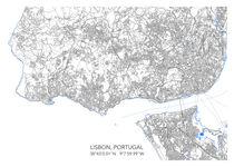 Lisbon map von Print Point