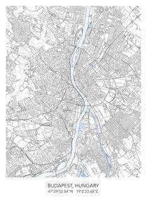 Budapest map von Print Point