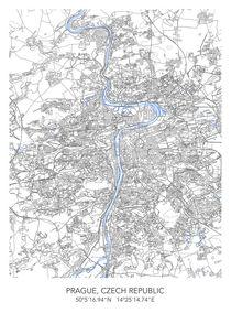 Prague map von Print Point