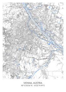 Vienna map von Print Point