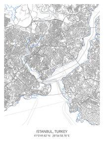 Istanbul map von Print Point