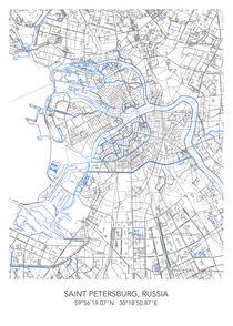 Saint Petersburg map von Print Point