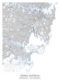 Sydney map von Print Point