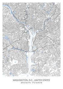 Washington map von Print Point