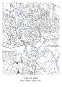 Verona map von Print Point