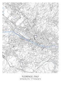Florence map von Print Point