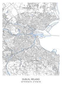 Dublin map von Print Point