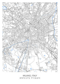 Milano map by Print Point