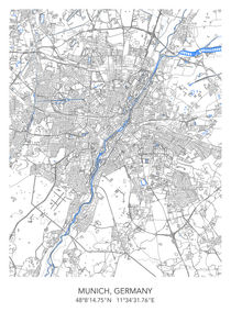 Munich map von Print Point