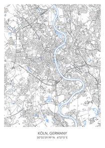 Koln map von Print Point