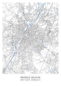 Brussels map von Print Point