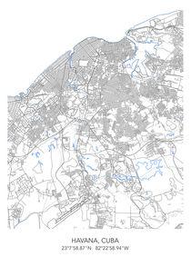 Havana map von Print Point