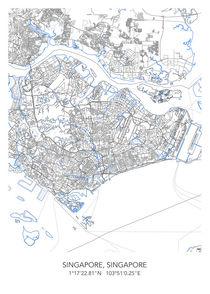 Singapore map von Print Point