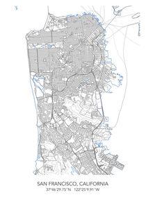 San Francisco map von Print Point
