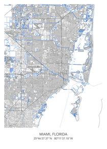 Miami map von Print Point