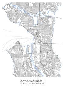 Seattle map von Print Point