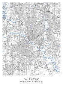 Dallas map von Print Point