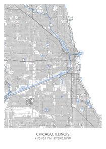 Chicago map von Print Point