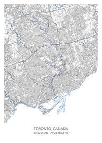 Toronto map von Print Point