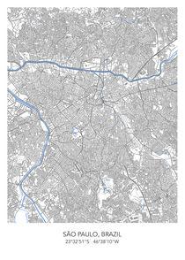 Sao Paulo map von Print Point