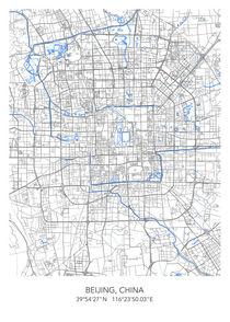 Beijing map von Print Point