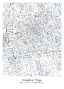 Shanghai map von Print Point
