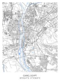Cairo map von Print Point