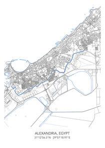 Alexamdria map von Print Point