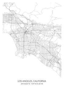 Los Angeles map von Print Point