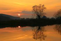 Sonnenuntergang an der Ruhr von Bernhard Kaiser