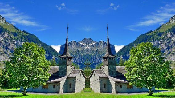 Kirche-in-kandersteg-2-hdr