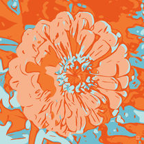 Blumen Poster Gerbera orange - welikeflowers von Robert H. Biedermann