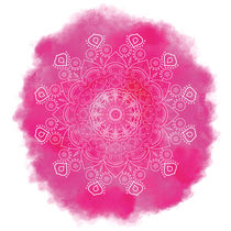 Mandala pink, yoga, bright, tender and beautiful Aquarell von Ruby Lindholm