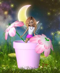 Elfe im Blumentopf von Conny Dambach