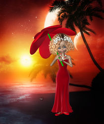 Lady in red von Conny Dambach