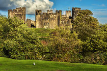 The Battlements of Caerphilly by Ian Lewis
