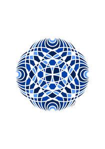 Geometric Mosaic Mandala - Blue  von Maggie B. Design