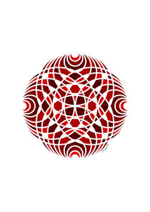 Geometric Mosaic Mandala - Red  von Maggie B. Design