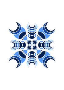 Futuristic Geometric Design - Blue von Maggie B. Design