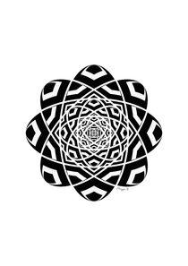 Black And White Geometrical Mandala Ornament  von Maggie B. Design