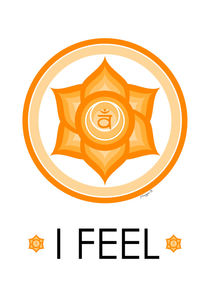 Sacral Chakra - Yoga Meditation Design by Maggie B. Design