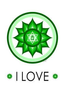 Heart Chakra - Yoga Meditation Design von Maggie B. Design