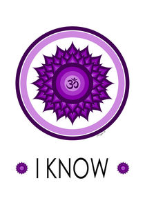 Crown Chakra - Yoga Meditation Symbol by Maggie B. Design